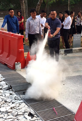 Fire extinguisher training in Singapore