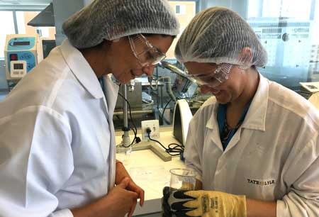 Tate & Lyle staff in lab