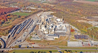 Aerial shot of Sagamore plant