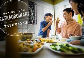 Family sharing dumplings
