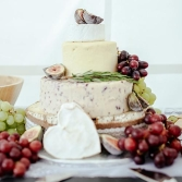 Cheeseboard with grapes