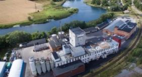 Aerial shot of Kimstad site, Sweden